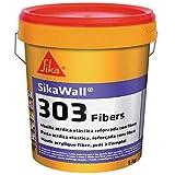Sikawall-303 Fibers, Masilla acrílica lista para usar fibra de vidrio, Blanco, 5kg