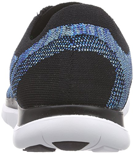 Nike Free 4.0 Flyknit, Chaussures de course homme Black/Blue Lagoon/Game Royal 004