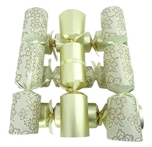 Packung mit 6 - großem Deluxe Gold verziert Weihnachten Cracker - Weihnachten Tischdekoration (Deluxe-krawatte-hut)