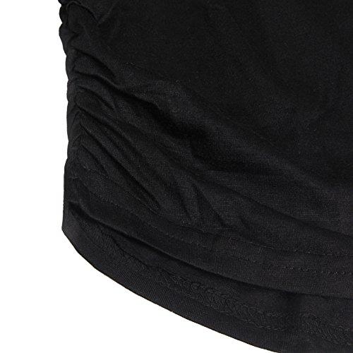 ELFIN [Ausverkauf Damen Frauen Tops Lippen Bedruckt Shirts Sommer Oberteile Kurzarm T-Shirt Hemd Bluse Gray Lippe bedruckt-Schwarz