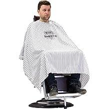 Capa de peluquería a rayas