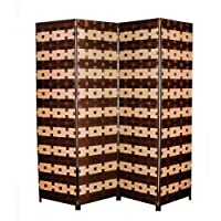 Room Divider Zena synthetic fabric Height 180 Cm Length 180 Cm 4 Layer