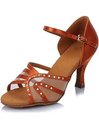 misu - Zapatillas de danza para mujer Rosa rosa, color Rosa, talla 36