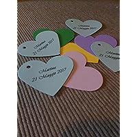 20 Tag Cuore- Etichette per matrimonio, regalo, eventi, pacchetti, battesimo