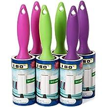 I GO Lint Roller Set capelli Pet polvere Fluff Remover 13m 90 fogli per rullo (confezione da 6) - Go Go Animali Set