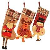 SueH Design Set 3 Pezzi Calza di Natale 48cm