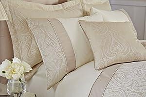 Catherine Lansfield Ornate Jacquard Pillowsham Pair, Cream