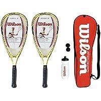 Wilson Ripper 2 raquettes de Squash Junior avec Sac et gourde &balles RRP £ 145
