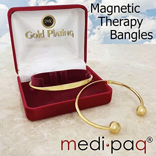 Arthritis-Armband, magnetisch, 24 Karat vergoldet, 2 Stück