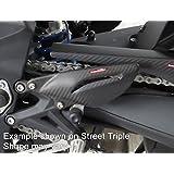 Kawasaki Z80013-15mate Placas detalónde fibra de carbono