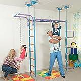 A tema giungla, per interni, WallBar? con apparecchiature supplementari, arrampicata, scala in corda-Corda per arrampicata, da camera, cameretta bambini, per interni-set altalena