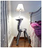 Lampada da terra per bambini Sala del cuoio del fumetto Unicorn Camera da letto moderna minimalista Comodino creativo Living Studio Decorazione verticale -Button-