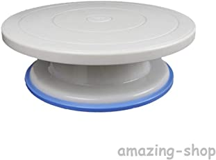 Cake Decorating Turntable 360 Rotation & Display Stand, 28cm, White | Brand - Master Royal BackNCook Tools | Amazing-Shop