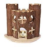 Zaote Wooden Villa Haus Schloss Spielzeug für Hamster Gerbil Ratte Maus Kleine Tier Klettern Spielen