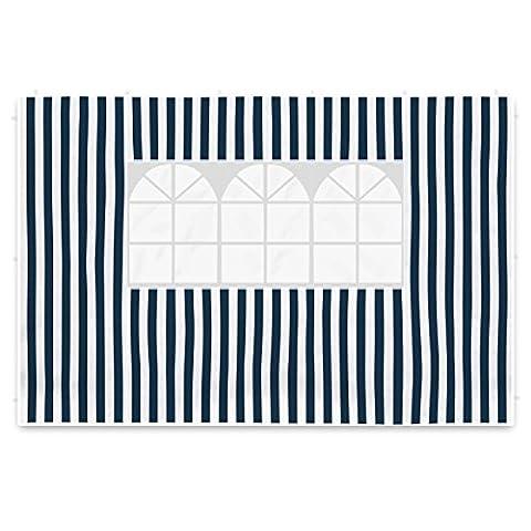 Nexos 2 Seitenteile Seitenwände Seitenplanen je 1 Fenster für PE-Pavillon Partyzelt 3 m marineblau