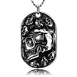 Die besten Bishilin Freunde Halskette für Jungen - Bishilin Herren Halsketten Anhänger Oval mit Schädel Totenkopf Bewertungen