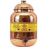 Best Utensils India Hammered Copper Water Dispenser Container Pot Matka, Storage Water, Kitchenware, 12 Ltr