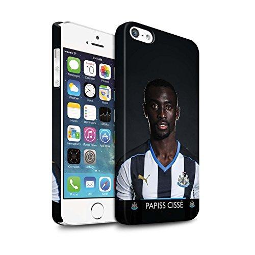 Offiziell Newcastle United FC Hülle / Matte Snap-On Case für Apple iPhone SE / Pack 25pcs Muster / NUFC Fussballspieler 15/16 Kollektion Cissé