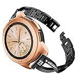 Janly Bande de Poignet en Cristal de Luxe en métal de Remplacement pour Montre Samsung Galaxy Watch (42mm) (Noir)