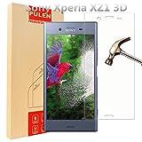 Sony Xperia XZ1 [3D Curved] Protecteur D'écran, PULEN Film Protection en Verre Trempé écran Protecteur [Extreme Résistant aux rayures] [Anti Bulles] 0,26mm Digitale HD (Transparent)