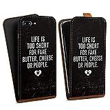 DeinDesign Apple iPhone 8 Plus Étui Étui à Rabat Étui magnétique Fake People