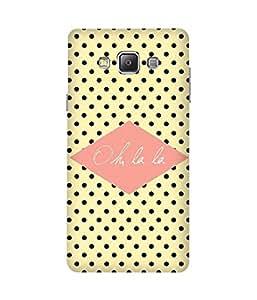 Oh La La Print Samsung Galaxy A7 Case