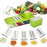 Baban Légume Coupeur Légume Coupe-légumes Slicer 5 en 1 Multifonction Râpe Légume Chopper dans la cuisine pour les Légumes Fruits Viande, Couper pour Legumes, Facile à Nettoyer