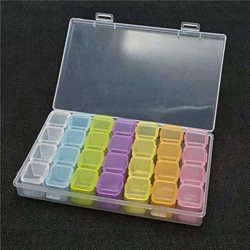 Abnehmbare Perle (LINSUNG 28 Abnehmbar Perlen Box, Perlenbox Sortierbox Sortierkasten, Plastik Aufbewahrungsbox)
