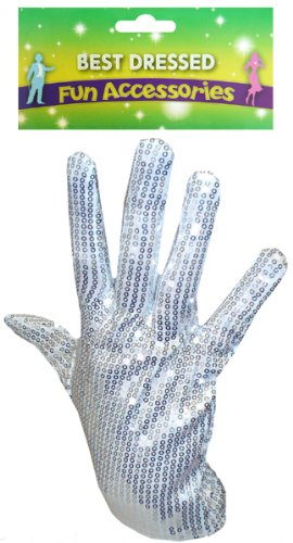 Michael Jackson Fancy Dress Accessory King Of Pop Glove Billie Jean Sequin (Michael Jackson Handschuh Kostüm)