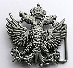Russian Double Headed Empire Eagle Metal Belt Buckle