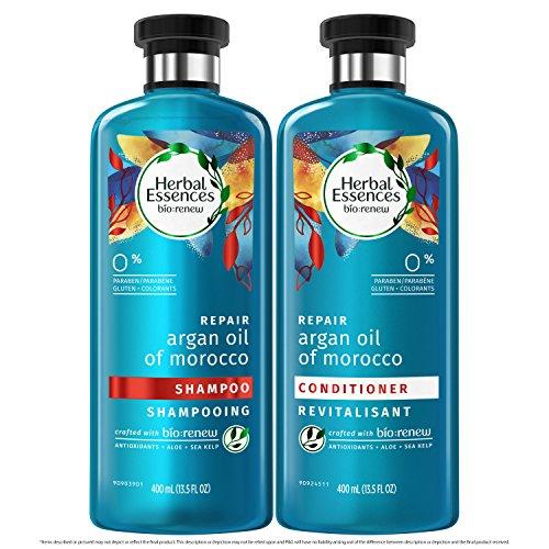 Champú reparador de aceite de argán de Marruecos Herbal Essences Bio-renew, de 400 ml y acondicionador de 400 ml