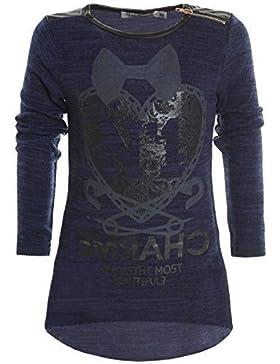 Mädchen Longshirt Bluse Shirt Pullover Langarmshirt Strickkleid Sweatshirt 20247