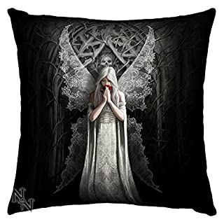 Only Love Remains Gothic Angel Art Black Cushion By Anne Stokes