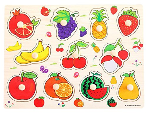 Preisvergleich Produktbild [Fresh Fruit] Finger Schulungs Peg Puzzle Kreativ Educational Holzspielzeug