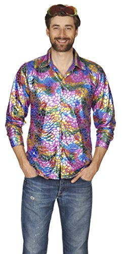 Disco-Hemd in Multicolor | Patrty-Hemd für Herren ()
