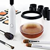 Makeup Brush Cleaner, Electric Anti-Bacterial Brush Cleaner NEW White Multi-Size Makeup Brushes Deep Clean Machine - The Best Way To Clean And Dry Your Brushes In Seconds - By Colore