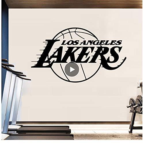 jqpwan Basketball Team Design Wandaufkleber für Wohnkultur Wohnzimmer Dekoration Jungen Schlafzimmer Wandtattoo Aufkleber Los Angeles Lakers LA 58 * 93 cm