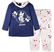 Disney Minnie Mouse Baby Girls Clothing Outfit Clothes Set Leggings + Long Sleeve Top 0-24 Months - New 2018