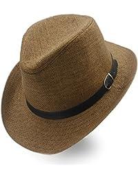 IWGR Cappello da Cowboy Estivo da Donna con Cappelli da Cowboy Sombrero in  Paglia (Colore 52f3f56d78d9