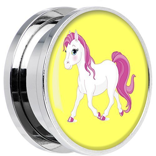 body-candy-acero-inoxidable-rubor-rosa-blanco-poni-rosca-ajuste-sin-rosca-enchufe-par-20mm