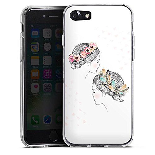 Apple iPhone X Silikon Hülle Case Schutzhülle Hippie Love Liebe Silikon Case transparent