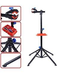 Pied d'atelier pour vélos stand de réparation entretien VTT montage réglable en hauteur