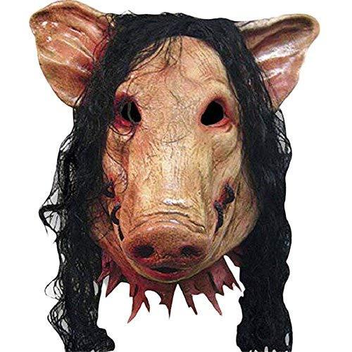 UK A2Z  Gruselig Schwein Kopf mit Haar Halloween Maske Party Show Feier Prop Bar Dekoration Cos Cosplay Tier SAH Mask Maskerade
