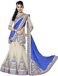 Clickedia Women's Georgette Lehenga Choli(lehenga Blue 3360_Blue_Free Size)