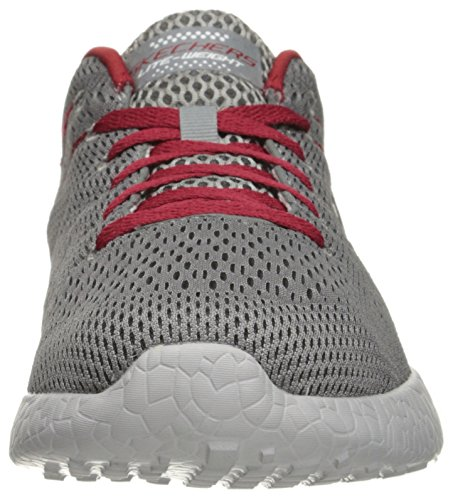 Skechers Burst-Second Wind, Scarpe da Ginnastica Uomo gray/red