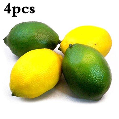 Künstliche Dekorative Obst 4 Stück Zitrone Haus Küchen Party Simulation Frucht Dekoration Fotografie Requisiten von SamGreatWorld (Früchte-küche Dekorationen)