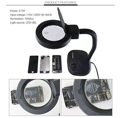 SJ_0515 LAMP 5X&10X Ästhetische Lupe Tabelle-Lampe Mit