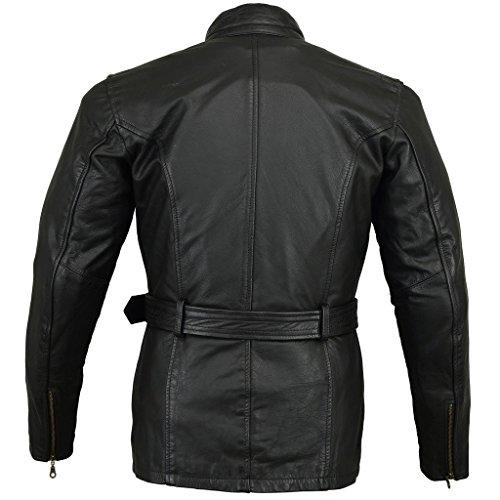 Black Retro Vintage Classic Vented Summer Motorcycle Gloves SHIMA Bullet Men Size:L S-4XL