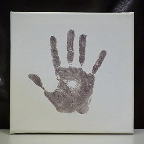Hand & Fuss-Druck-Segeltuch-Andenken u. Baby-Safe-Tinten-Auflage - Kleinkind-Kindergedächtnis -
