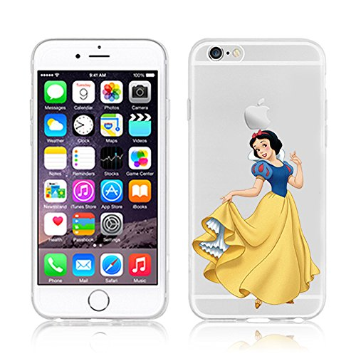 New Disney Prinzessinnen transparent TPU Soft Case für Apple iPhone 4/4S 5/5S 5 C 6/6S & 6 + 6 + S * Check Sonderangebot * Snowwhite 2